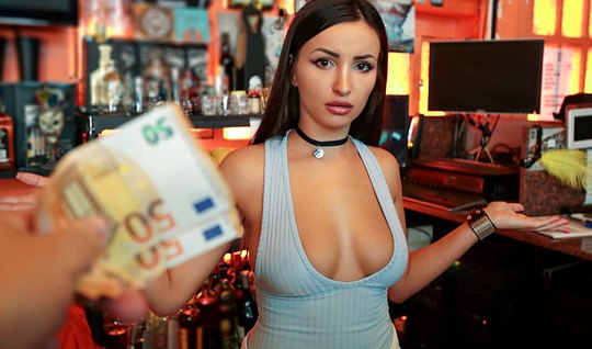 Pick-up paid more than the barmaid and fucked her right in the bar...