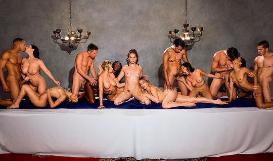 Luxury evening old friends ended a wild and passionate Orgy...