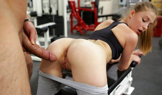 Horny coach fucked his ward from behind after workout...
