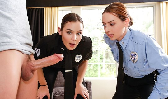 Two lustful employee of the police fucked by intruder...