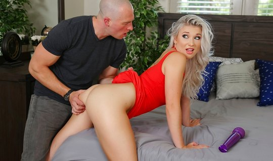 Blonde in red undressed before the goal and gave fuck yourself in the ...