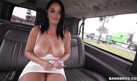 Guy fucked in the car Busty beauty...